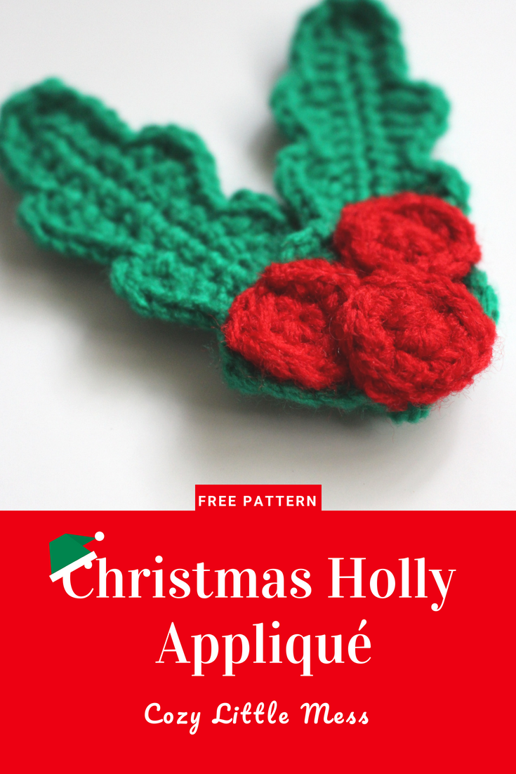 Christmas Holly Appliqué