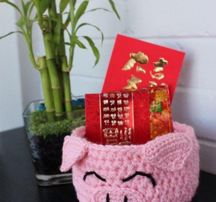 Lucky Pig Basket