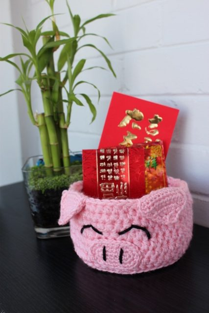 Lucky Pig Basket