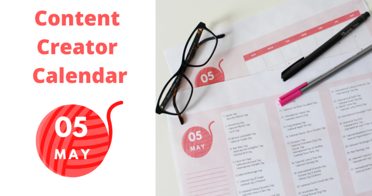 Content Creator Calendar ( May 2020)